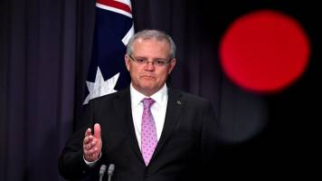 Australian PM Scott Morrison warns of 'collateral damage' from US-China trade war