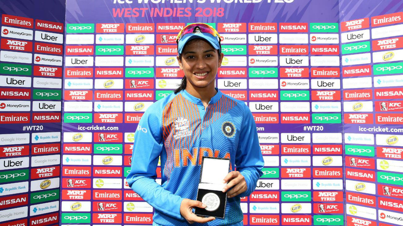 For her blistering fifty Indian opener Smriti Mandhana was adjudged player of the match. Thanks to the victory India remains unbeaten in the tournament thus far and topped their Group B with 8 points of possible 8. (Image: www.icc-cricket.com)