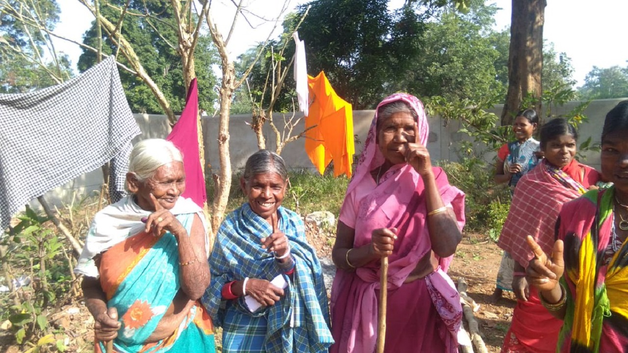 Women voters in Dantewada's Murki. According to the Election Commission, women voters turned out to vote while also taking the initiative to bring other women to the voting booth. (Image: CEO Chhattisgarh/Twitter).