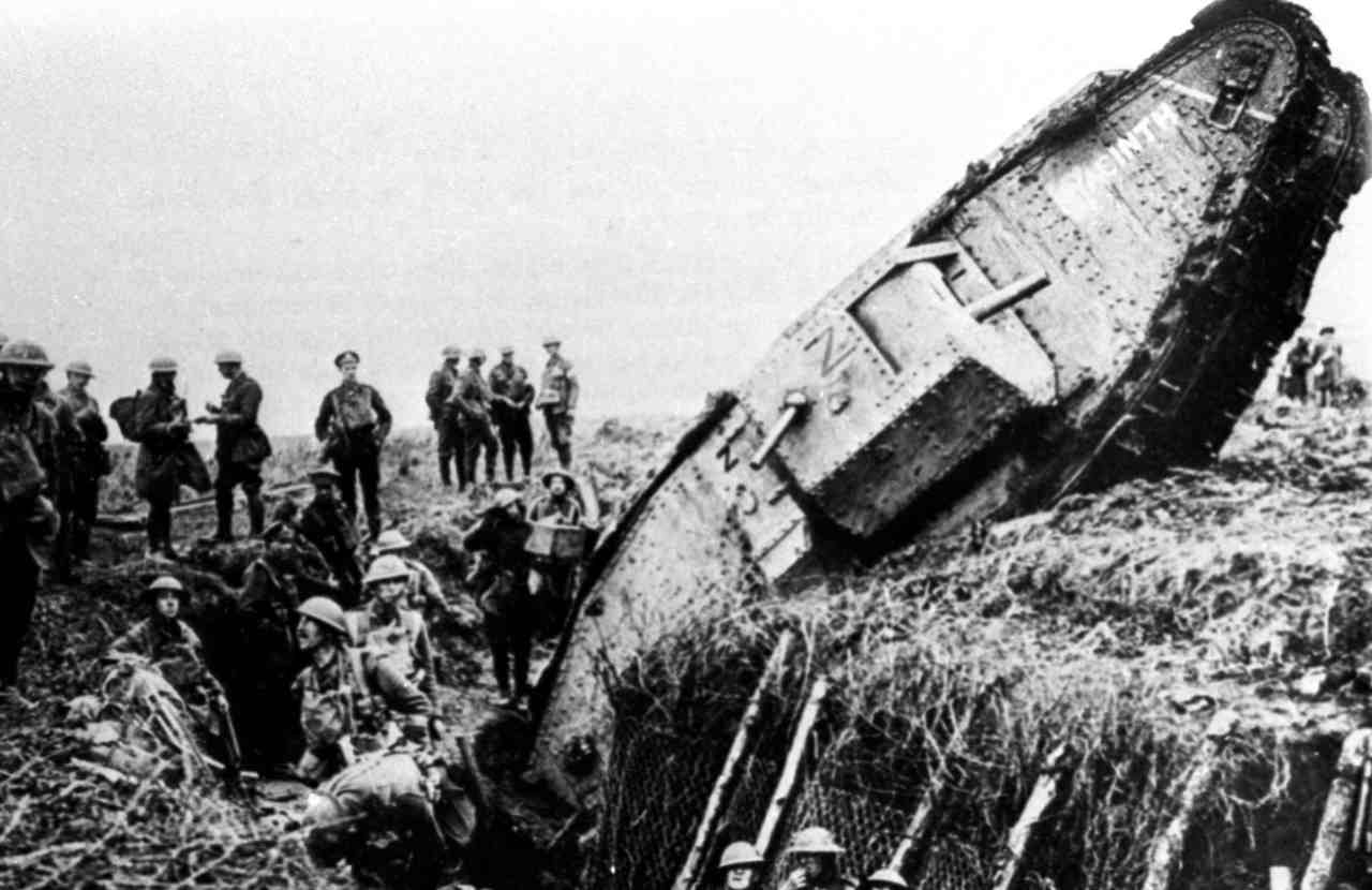 Pictured: The first World War pioneered many inventions in technology and science. Chief among them were tanks, which were invented to break the trench warfare stalemate. (Image: Reuters)
