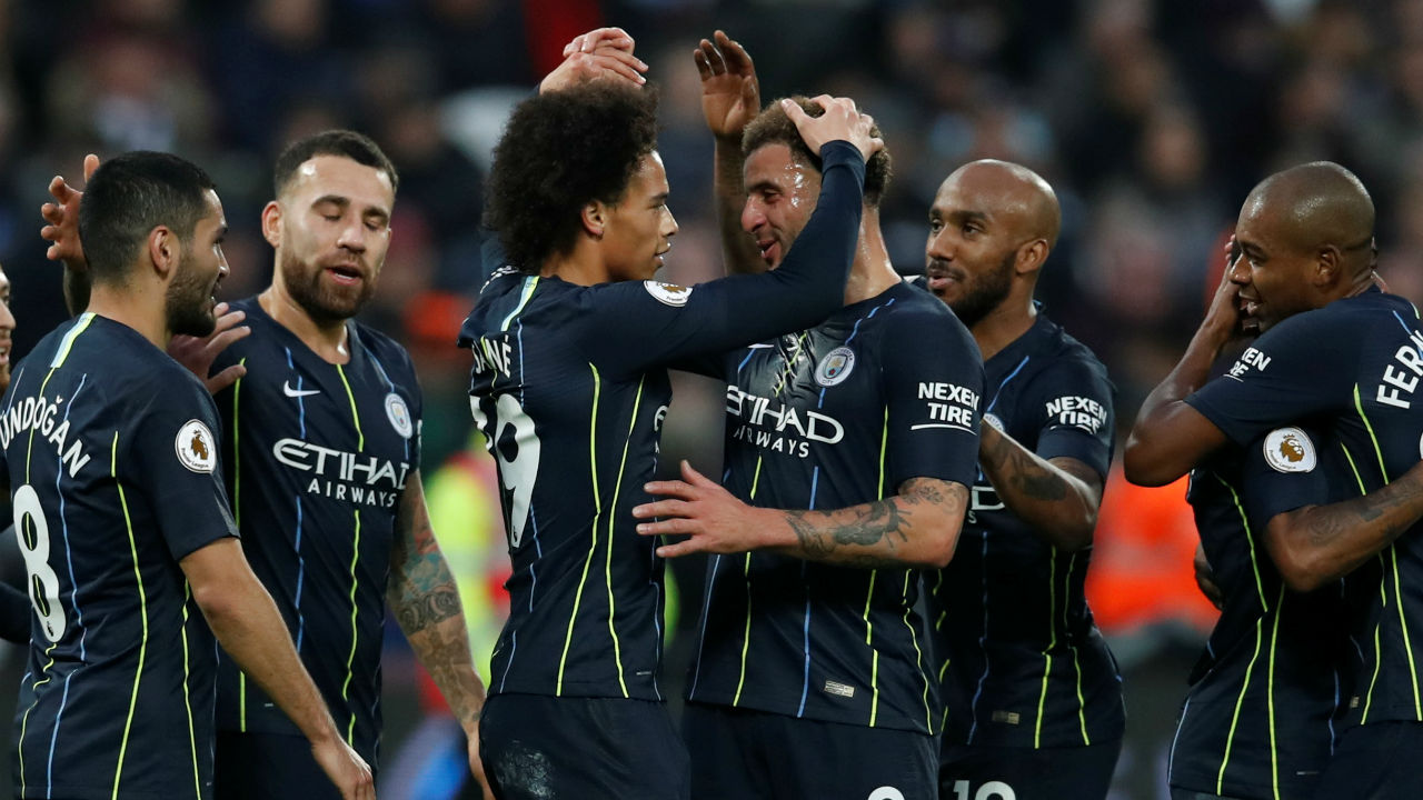 West Ham United 0 - 4 Manchester City | Defending champions Manchester City were clinical in their win against West Ham United at the London Stadium. A brace from winger Leroy Sane (34' and 93') and two more goals from David Silva (11') and Raheem Sterling (19') helped Pep Guardiola's side remain unbeaten and top the League. (Image: Reuters)