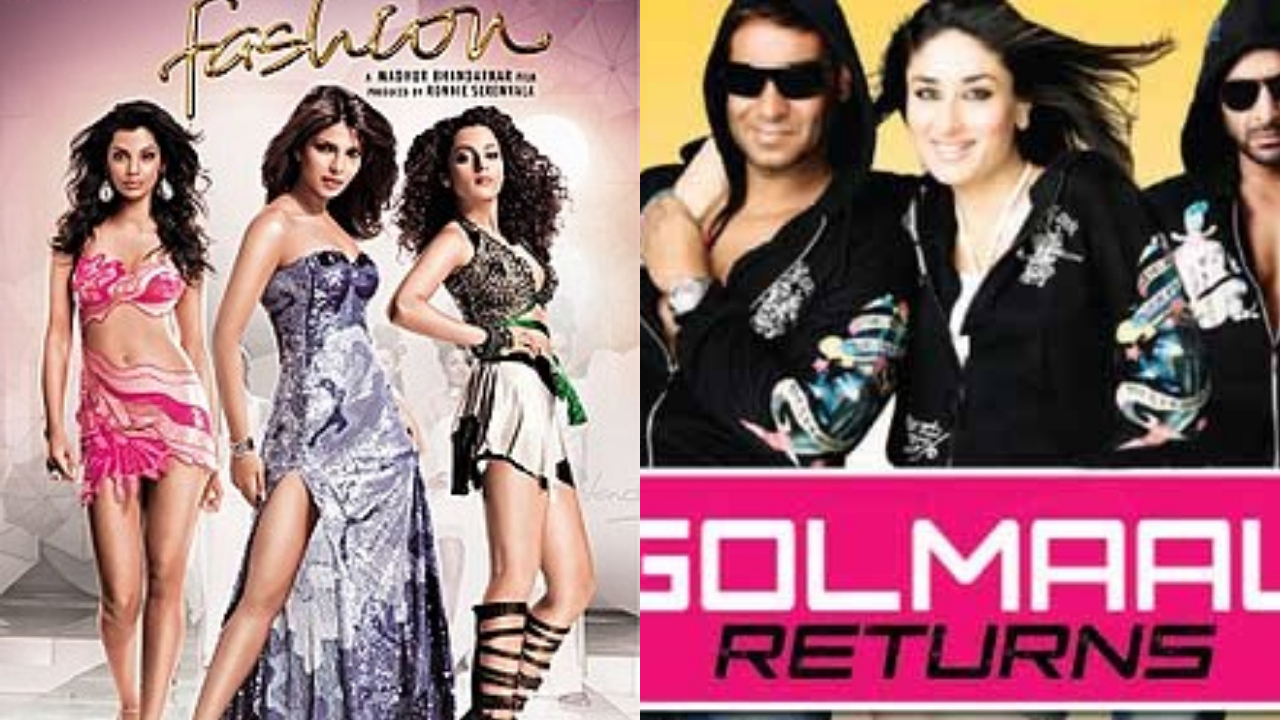 Year: 2008 | Film: Fashion | Budget: Rs 20 crore | Box office collection: Rs 43 crore | Film: Golmaal Returns | Budget: Rs 35 crore | Box office collection: Rs 83 crore (Image: Twitter)