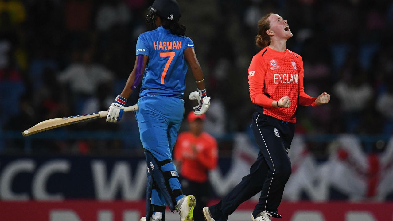 India's Women's World T20 campaign ended in heartbreak when they succumbed to an 8-wicket defeat to England. India started the match brightly but lost their last 8 wickets for a mere 23 runs as they posted a below par target of 113. England's Natalie Sciver and Amy Ellen Jones shared an unbeaten 92-run partnership to take their team to victory with 17 balls remaining. (Image: Icc-cricket.com)
