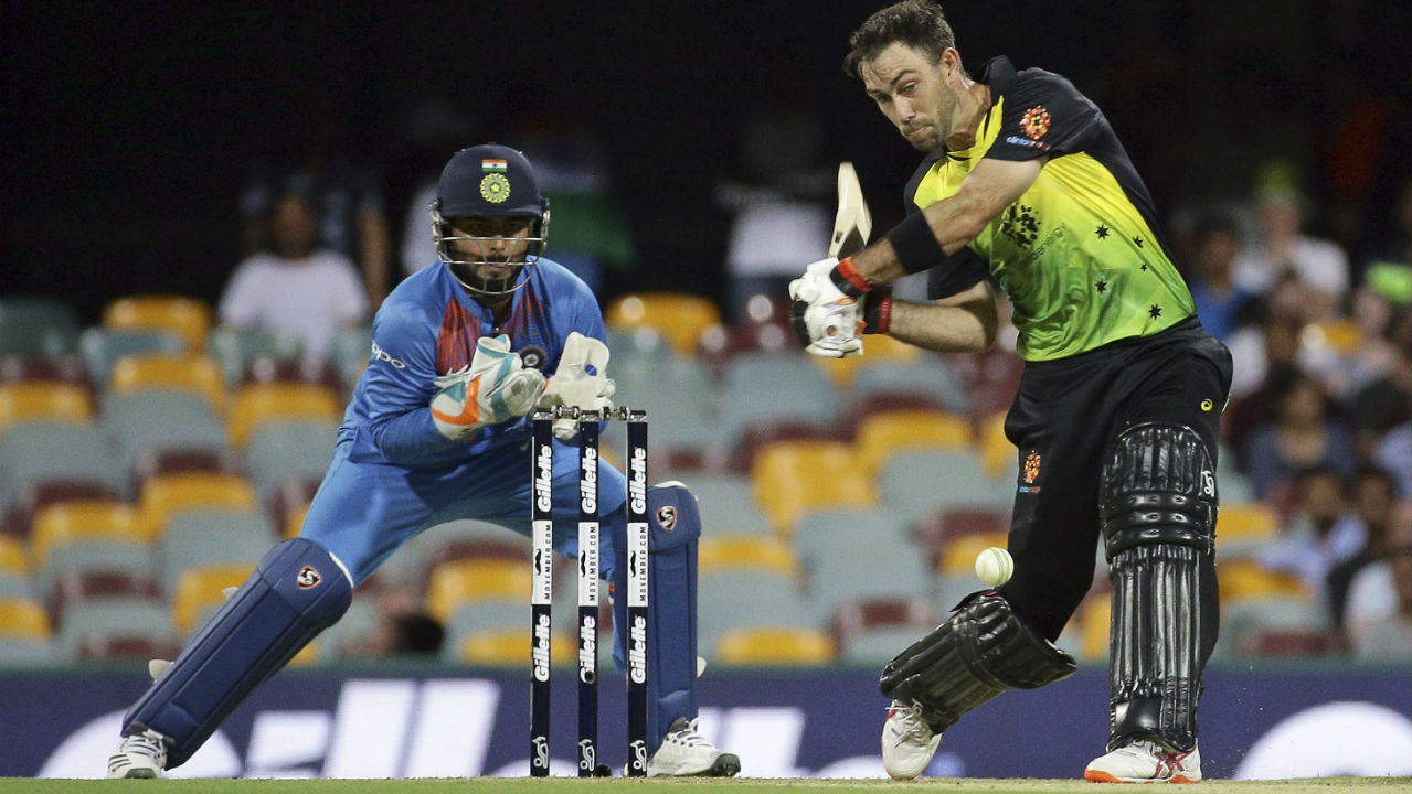 Glenn Maxwell took his time to settle down before taking the Indian bowlers to the cleaners. He along with Marcus Stoinis added 78 runs off just 36 deliveries before rain interrupted play. Maxwell reserved special treatment for Krunal Pandya as he dispatched him for three back-to-back sixes in the 14th over. (Image: AP)