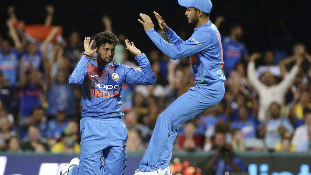 Kiwis run-chase was further dented when Kuldeep Yadav sent back Tom Latham and Colin de Grandhomme in quick succession. Latham was trapped LBW while Grandhomme was caught by Rayudu in the deep. New Zealand were struggling at 146/6 when Grandhomme was dismissed. (Image: AP, file photo)
