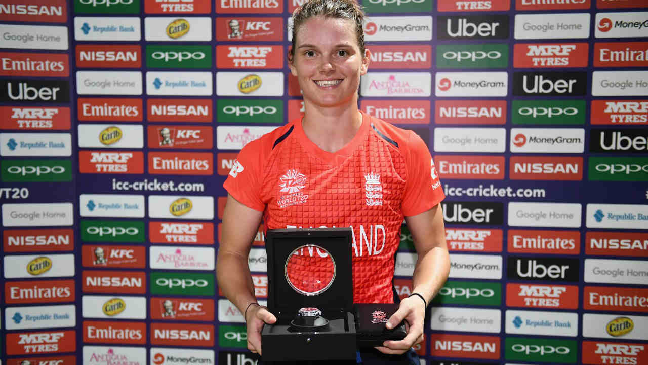 Amy Jones too completed her fifty with a boundary which also gave England the win. She was named the Player of the Match for her composed innings of 53 off 47 deliveries. (Image: Icc-cricket.com)