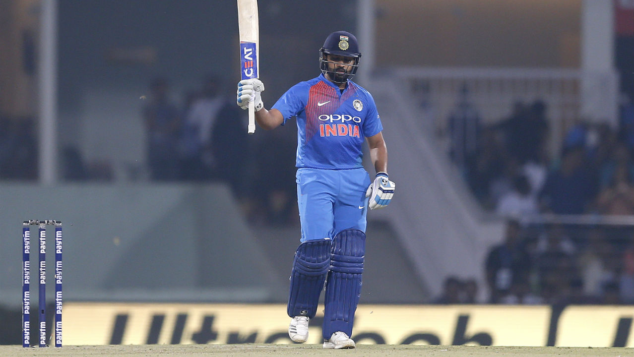 Rohit Sharma was in sublime form as he sent the bowlers on a leather hunt right through his innings. He brought up his fifty in the 13th over coming off just 38 deliveries. (Image: AP)