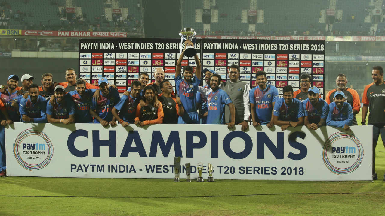 India whitewash West Indies | India won the the third and final T20I against West Indies by 6 wickets in Chennai and completed a clean sweep . India had previously won the 1st and 2nd T20Is at Kolkata and Lucknow by 5 wickets and 71 runs respectively. (Image: AP)