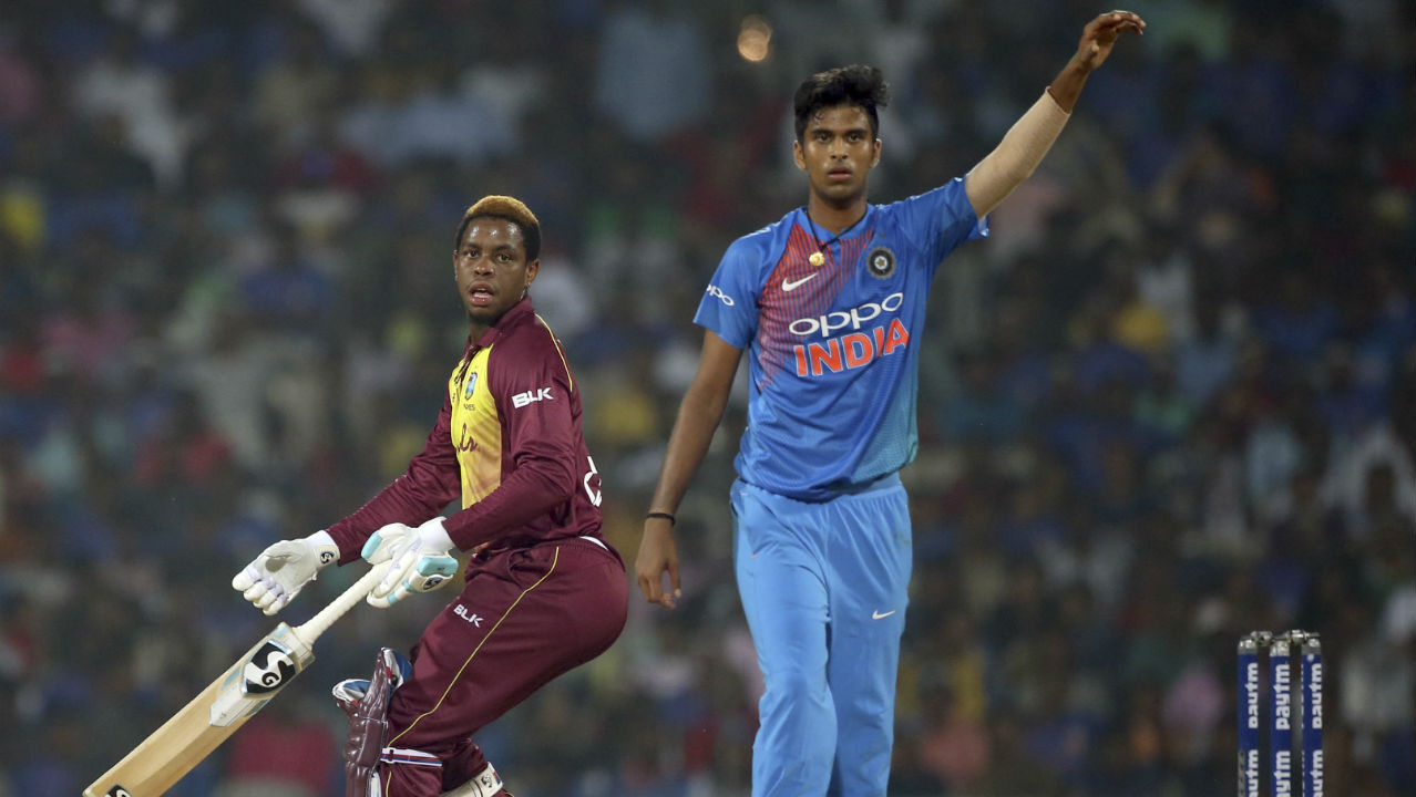 Chahal also accounted for Shimron Hetmyer in the 9th over as the Windies batsman mistimed his shot sending it high towards Krunal Pandya at deep point. Denesh Ramdin and Darren Bravo then added 32 runs off just 24 balls before Washington Sundar castled Ramdin in the 13th over. (Image: AP)