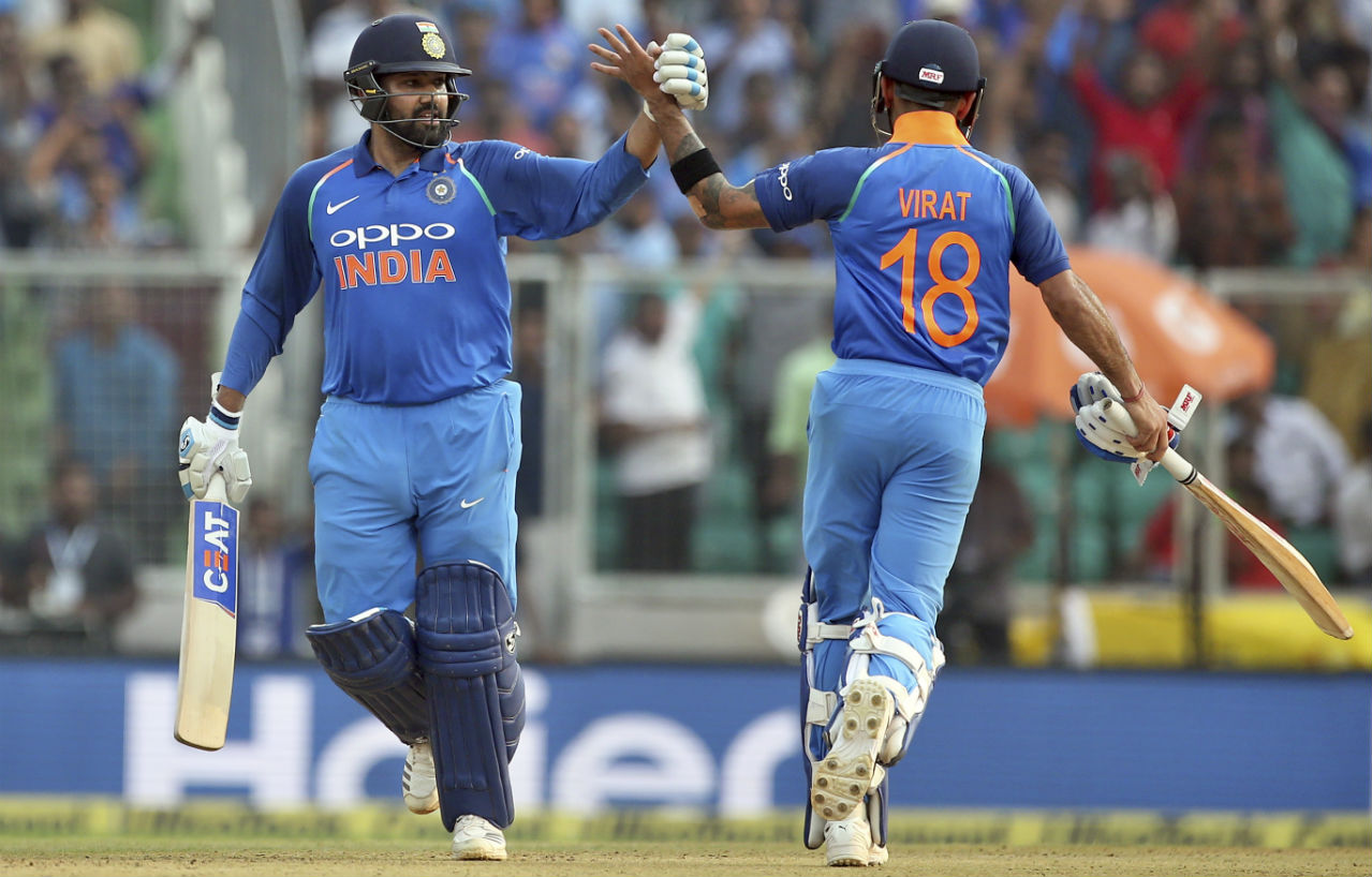 Rohit Sharma and Virat Kohli stitched together an unbeaten 99-run partnership to guide India to victory within just 15 overs. India won by 9 wickets with 211 balls remaining to seal a 3-1 series win. It was the hosts' sixth series win on the trot at home. (Image: AP)