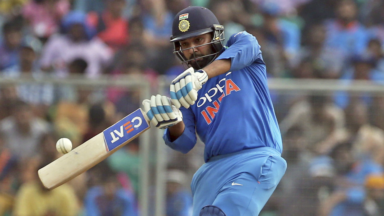 Opener Rohit Sharma continued in his rich vein of form as he brought up his half-century in the 12th over. It was the 37th ODI fifty for Rohit who came into this match on the back of a 162 off 137 balls inning at Mumbai. (Image: AP)