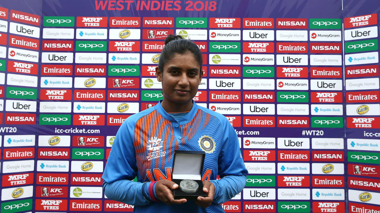Mithali Raj was named the player of the match for her fighting half-century which took India to a decent total. Radha Yadav was the most effective bowler for India, picking up three wickets while giving away just 25 runs in 4 overs. (Image: icc-cricket.com)