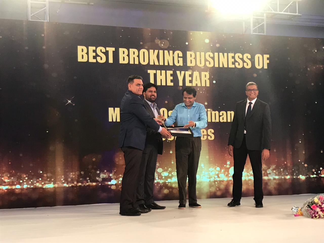 Best broking business of the year: Motilal Oswal Financial Services | The company was founded in 1987 as a small sub-broking unit by two visionaries Motilal Oswal and Raamdeo Agarawal. It has diversified to offer a range of financial products and services such as private wealth management, retail broking and currency broking. Motilal ended FY18 with its highest-ever revenue and profit of Rs 2770 crore and Rs 562 crore respectively. (Image: Moneycontrol)
