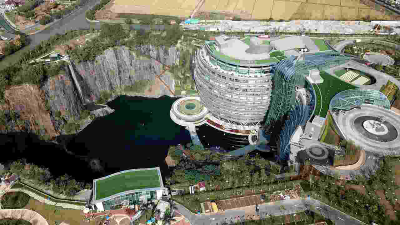 In pics: China unveils the world's first underground hotel