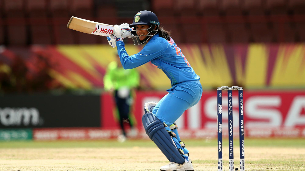 The Indian openers started well as they added 67 runs for the first wicket. The partnership ended in the 10th over when Smriti Mandana was castled by Kim Garth. Mandana was outdone by the change of pace from the Irish bowler. (Image: icc-cricket.com)