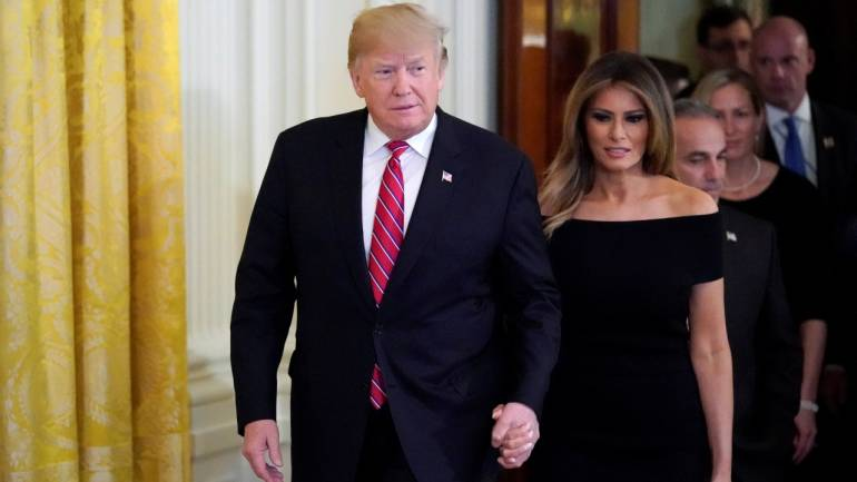 "In May, US First Lady Melania Trump was away from public eye for almost three weeks. Speculations and conspiracy theories were afloat; but Trump put a rest to all of this when he tweeted that she was back and doing well. ""Great to have our incredible First Lady back home in the White House. Melanie is feeling and doing really well"". We're not sure what Melania thought of it. (Image: Reuters)"