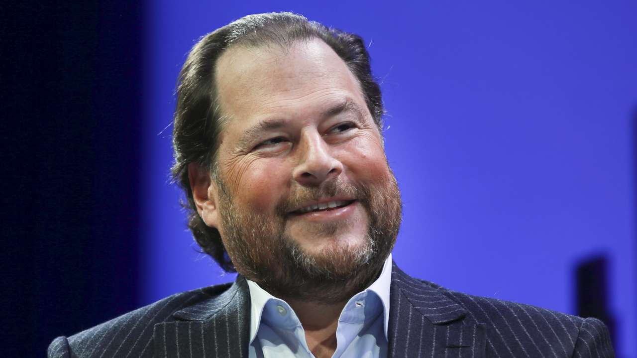 "Marc Benioff, CEO, Salesforce.com | The head of the billion dollar company started meditation way before he started his company in 1999. He advises his peers to follow the same to ""clear your mind and make room for new ideas"". (Image: Reuters)"
