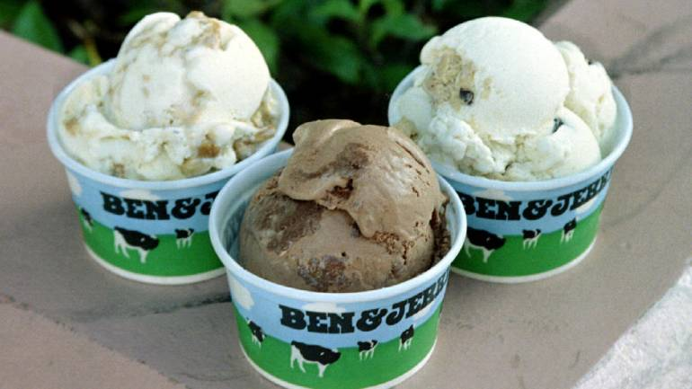 Answer: Ben and Jerry's - On May 5, 1978, Jerry Greenfield and Ben Cohen opened the first Ben & Jerry's ice cream shop in a converted gas station in Burlington, Vermont. (Image: Reuters)
