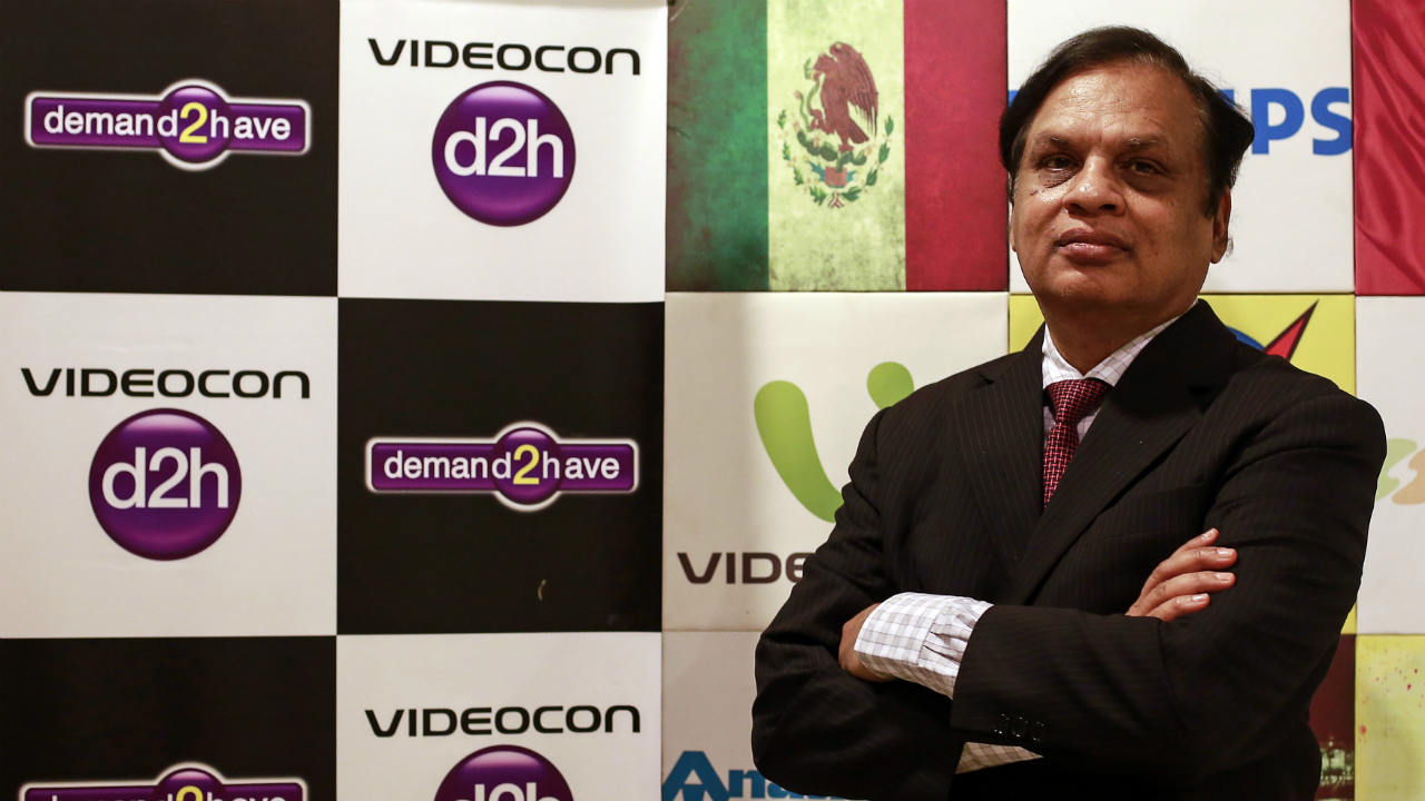 Answer: Videocon – That is the reason why Videocon is shown with 2 'E's facing opposite directions. (Image: Reuters)