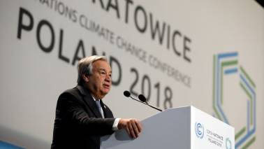 COP24 summit: World 'way off course' in climate change fight, says Antonio Guterres