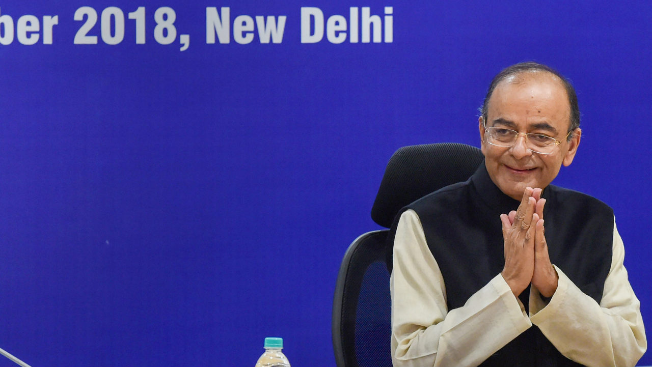 Union Finance Minister Arun Jaitley at the 31st meeting of the Goods and Services Tax (GST) Council, in New Delhi. (Image: PTI)