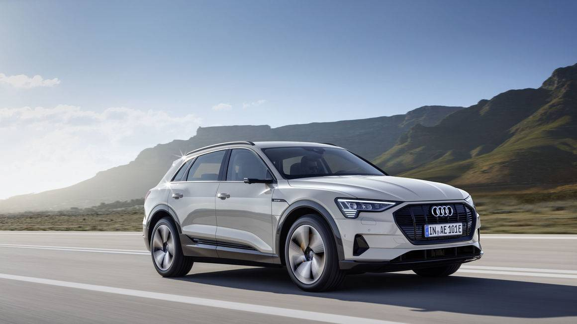 2019   Audi e-tron   E-Tron is the first all-electric car by the German auto giant and will debut in India next year. The car has a range of 400 km and takes about 30 mins to charge 80 percent of the battery. E-tron will be imported to India; thus it will come with a hefty price tag. (Image: Audi)
