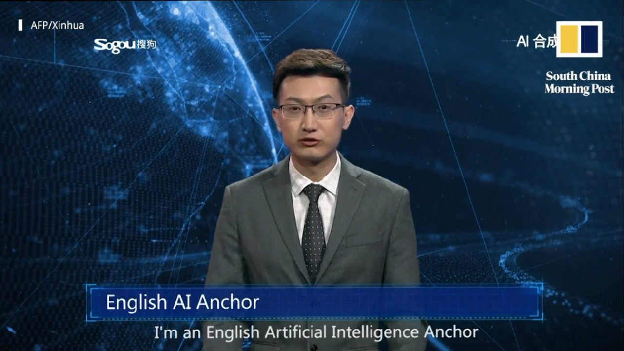 "China's AI Anchor | China's state-run Xinhua News Agency unveiled an ""English AI Anchor"", modelled after its resident anchor Zhang Zhao. The AI anchor is capable of working round the clock, learns from live videos and can perfectly mimic the nuances of a professional news anchor. (Image: South China Morning Post)"