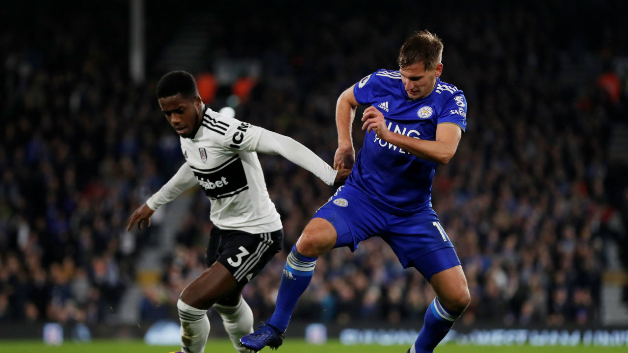 Fulham 1 - 1 Leicester City | Fulham squandered a first half lead as its match against Leicester City finished on level pegging at Craven Cottage. Aboubakar Kamara put the hosts in front in the 42nd minute but his goal was cancelled out by a goal from James Maddison in the 74th minute. (Image: Reuters)
