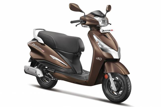 Leading two wheeler maker Hero Motorcorp also made its debut in the 125cc scooter space with the Destini 125. After a lukewarm response for its scooter range the Delhi-based company placed its bets on a new brand