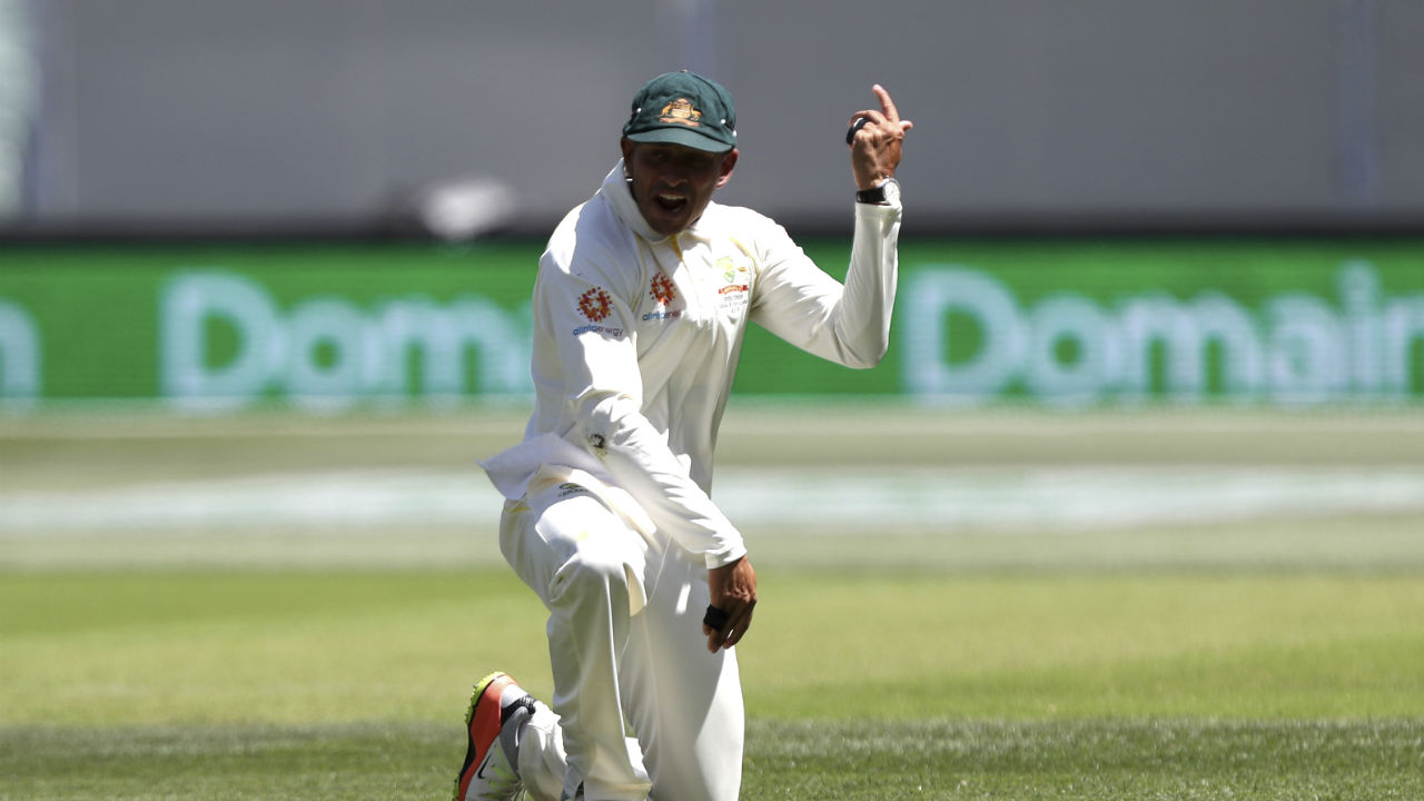 Usman Khawaja standing at gully took a stunning catch off Pat Cummins' delivery in the 11th over to dismiss Kohli. The Indian skipper was looking to drive a delivery well outside off but edged it towards Khawaja who dived to his left and took a brilliant catch while still airborne. (Image: AP)
