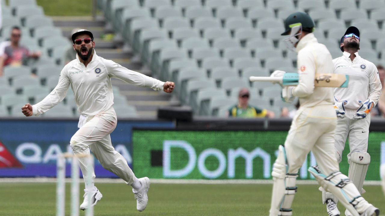 India struck soon after the Tea break as Handscomb nicked a delivery from Jasprit Bumrah to Pant. (Image: AP)