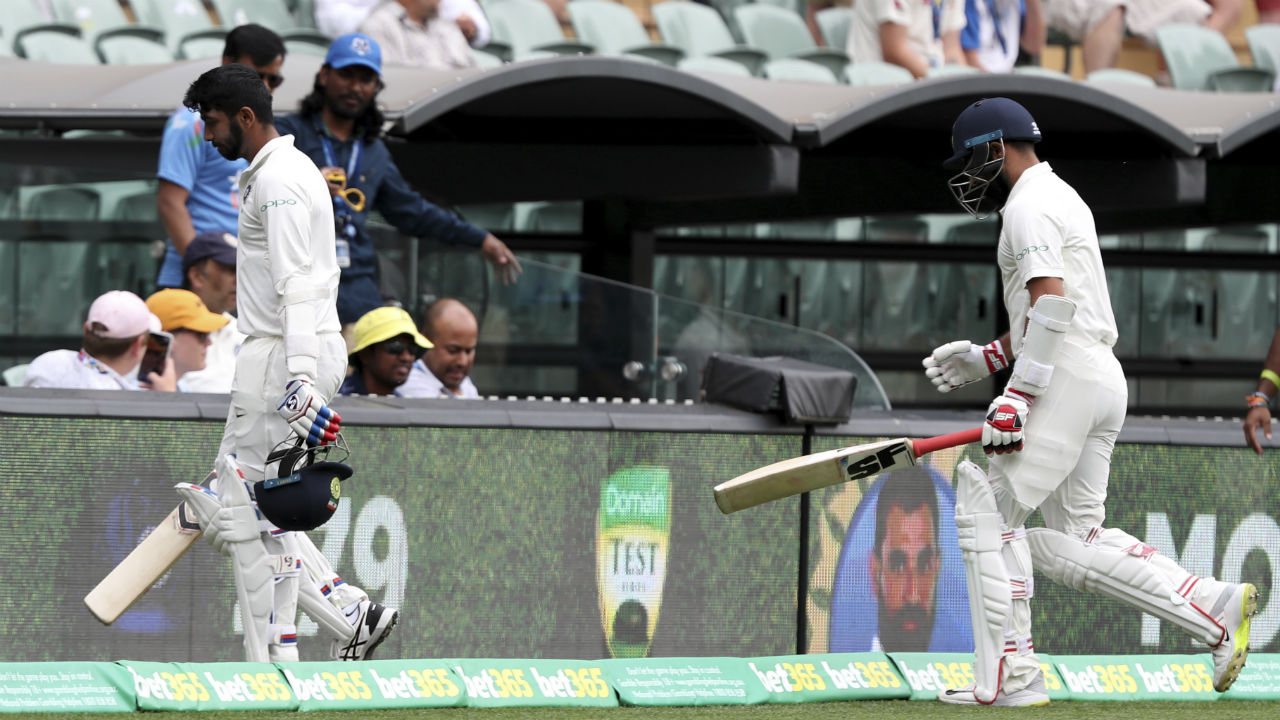 The Indian innings lasted for a mere one delivery on Day 2 as Josh Hazlewood dismissed Mohammed Shami caught behind. India thus folded with 250 runs on the board. (Image: AP)