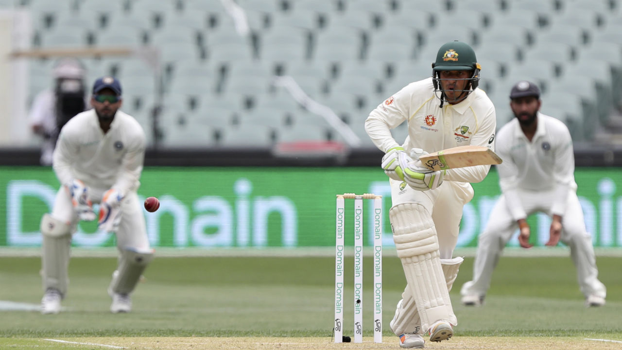 Usman Khawaja along with debutant Marcus Harris then put up a 45-run stand to bring the Australian innings back on track. (Image: AP)