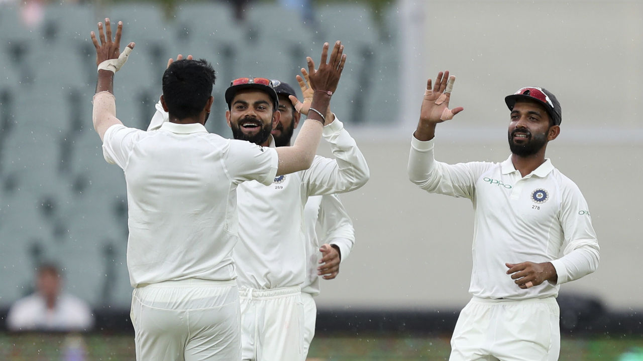 India started Day 3 of the Test with Jasprit Bumrah picking up the wicket of overnight batsman Mitchell Starc. Bumrah got Starc play a big drive whch Starc edged to Indian wicket-keeper Rishabh Pant. (Image: AP)