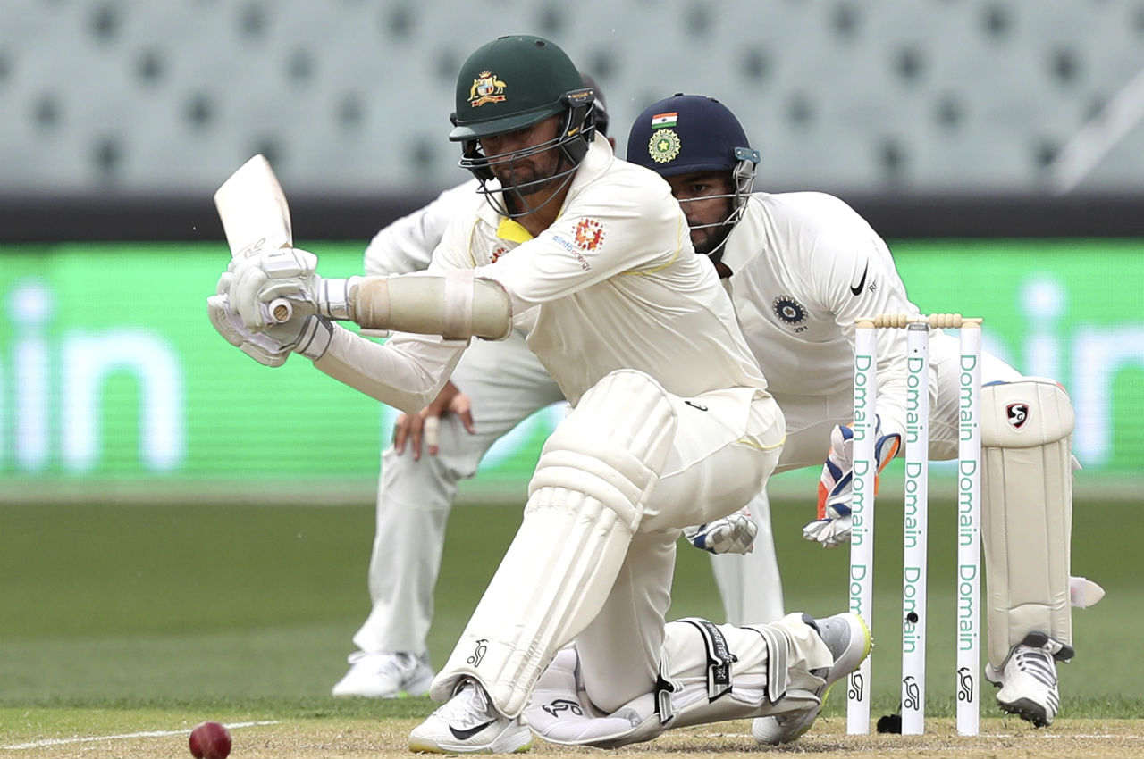 After the play resumed Nathan Lyon batted well and added valuable runs to the Australian total as the team edged closer to India's first Innings total of 250. Lyon remained unbeaten on 24 off just 24 balls. (Image: AP)