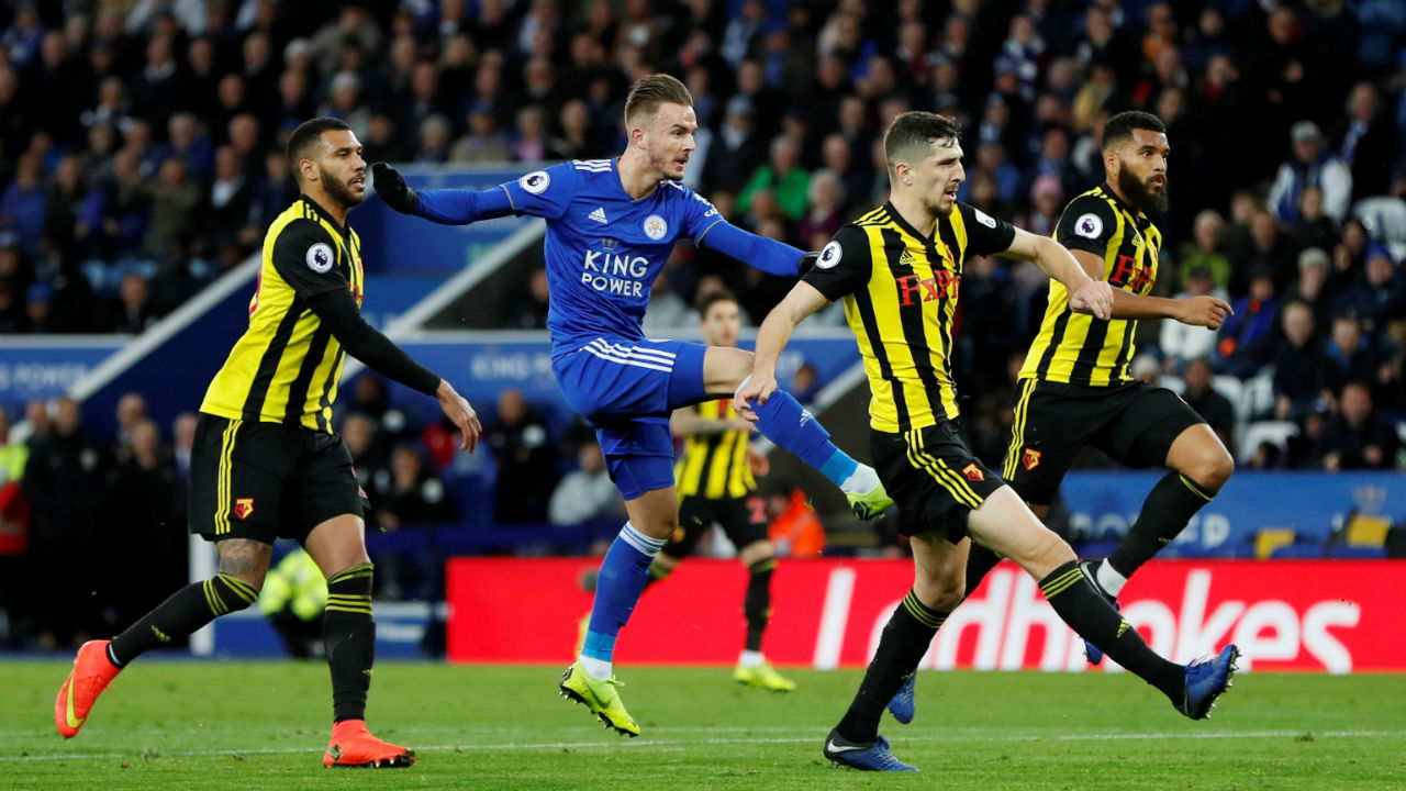 Leicester City 2 - 0 Watford | After a period of gloom, Leicester City gave its fan something to cheer with a win over Watford at King Power Stadium. Jamie scored the opening goal for the Foxes in the 12th minute as he netted a goal from the spot after being brought down by Watford goalkeeper Ben Foster. The home side doubled the lead just 11 minutes later when a quick counter-attack ended with James Maddison excellently volleying into the bottom corner. The result meant Leicester moved up to eighth in the standing while Waford slipped down to 10th. (Image: Reuters)