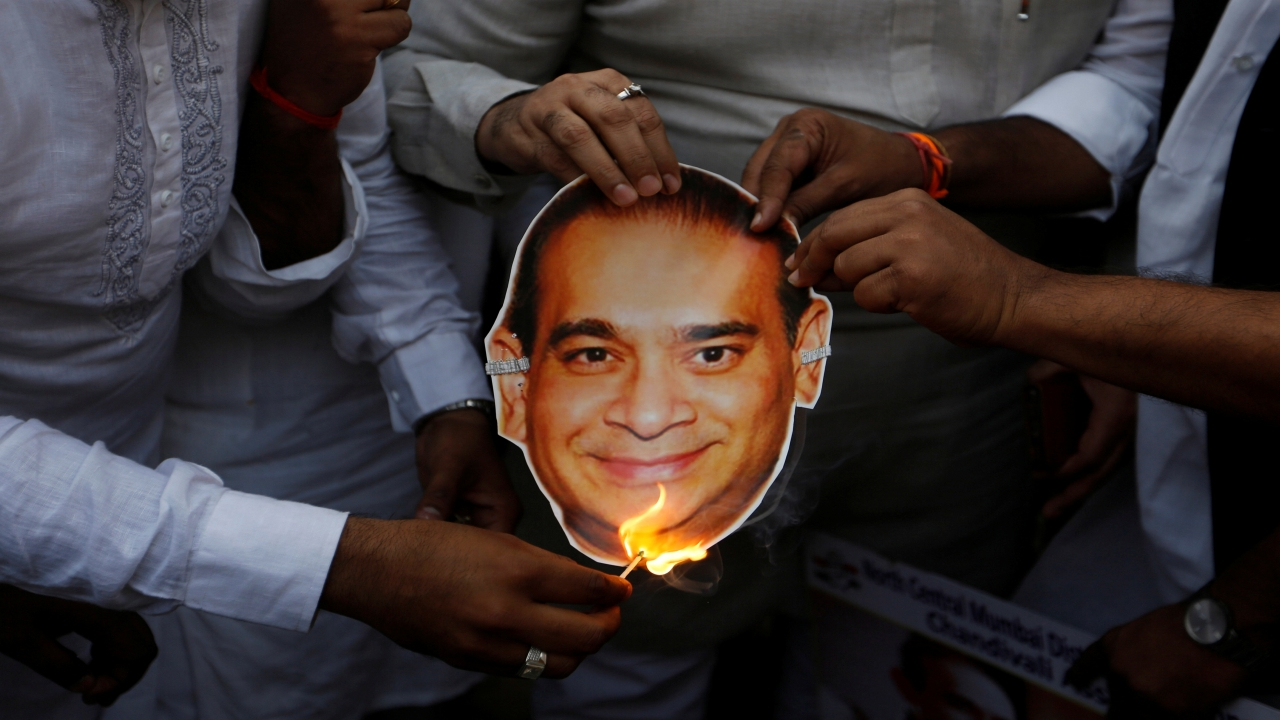 Nirav Modi | Nirav Modi Global Diamond Jewellery House | The diamond merchant, along with his uncle Mehul Choksi, in connivance with certain bank officials, allegedly cheated Punjab National Bank of about Rs 14,000 crore through issuance of fraudulent letters of undertakings (LoUs). This is one of the biggest financial frauds in India. Both Modi and Chokshi fled India before they could be arrested. (Image: Reuters)