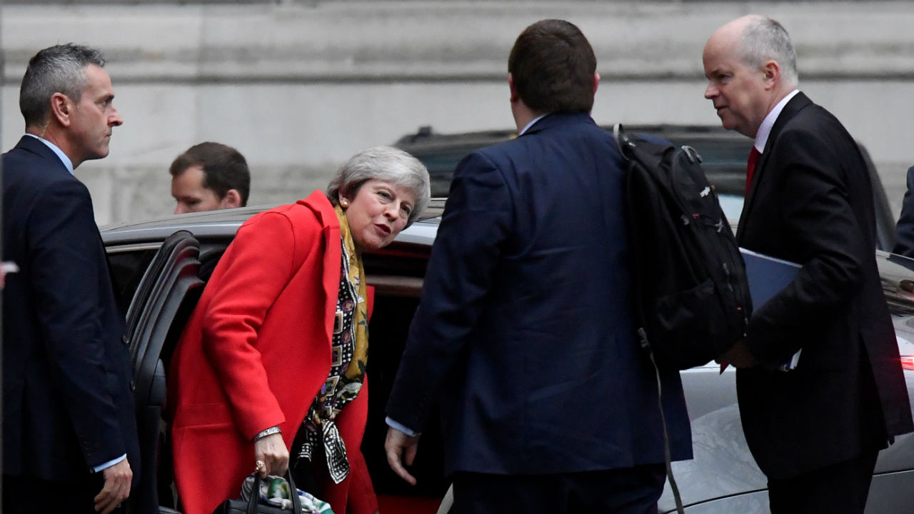 Prime Minister Theresa May, arrives at Downing Street after appearing on the BBC's 'Today' radio programme in central London, Britain. (Image: Reuters)