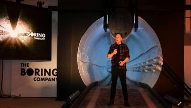 Elon Musk unveils underground tunnels, offers rides to VIPs