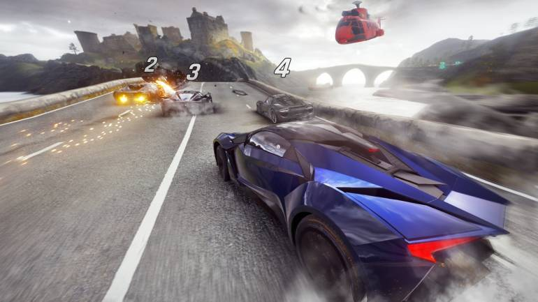 Asphalt 9 Asphalt 9 has been developed by Gameloft and has by far been the year's best mobile game in the racing universe. The arcade racing game succeeds Asphalt 8, a popular racing game launched in 2013 and features licensed cars from biggest car brands such as Ferrari, Porsche, Audi, Mercedes, BMW, Koenigsegg and features flamboyant graphics.