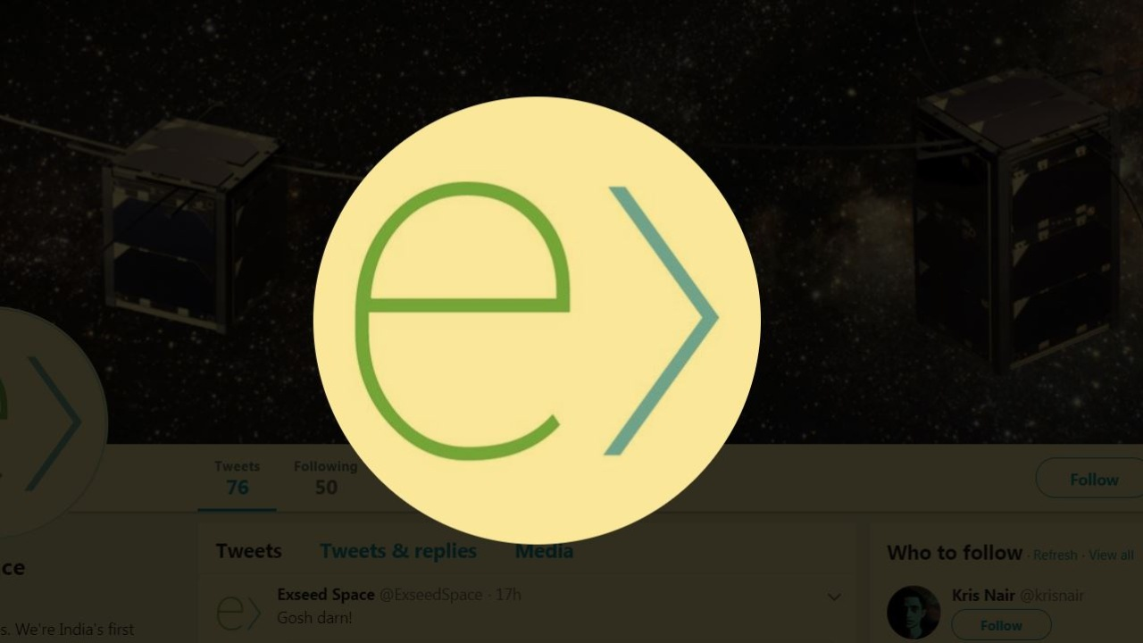 Exseed Space | Founded in 2017 by Kris Nair and Asshar Farhan, Exseed Space is working towards setting up India's first contract satellite manufacturing facility. Once operational, the facility will cater to the growing global demands of manufacturing Cubesats, Nano-sats and Micro-sats. It recently had one of its satellites launched with Elon Musk's SpaceX Falcon 9, and was called ExseedSat-1. (Image: Twitter)