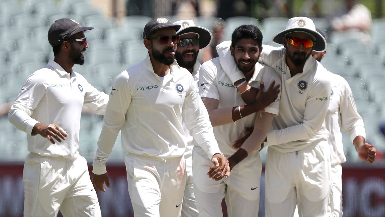 India take 1-0 series lead | The 31-run victory in the first test at Adelaide gave India its first-ever 1-0 lead in a Test series on Australian soil. India's test series got off to a flyer as Cheteshwar Pujara slammed 194 runs in that game while Jasprit Bumrah finished with six wickets. The win gave India a much-needed boost in confidence after close finishes in England went against them. (Image: AP)