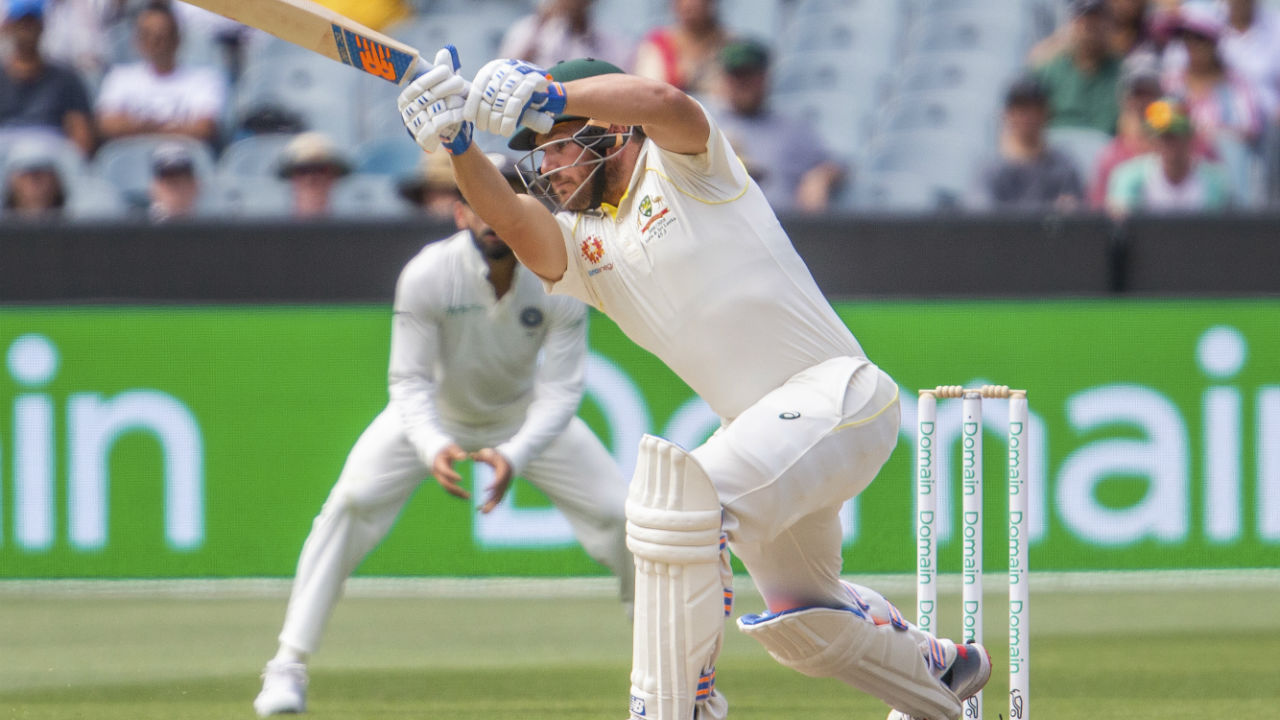 Aussie openers Aaron Finch and Marcus Harris resumed batting on Day 3 in pursuit of India's 443/7d. Aussies were 8/0 overnight. (Image: AP)