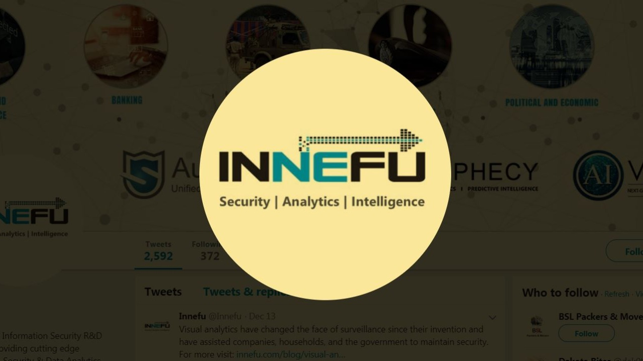 Innefu | Founded in 2010 by IT engineers Tarun Wig and Abhishek Sharma, Innefu is a startup which develops cybersecurity solutions using artificial intelligence. Its products' use of facial recognition in real time has been of immense help to police in their efforts to nab culprits. Innefu's 'Prophecy Vision' was also used by the Delhi Police to identify 3,000 missing children. (Image: Twitter)