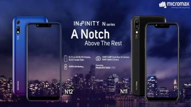 Micromax launches Infinity N11, Infinity N12 with dual-rear cameras, notch-display, Helio P22 SoC