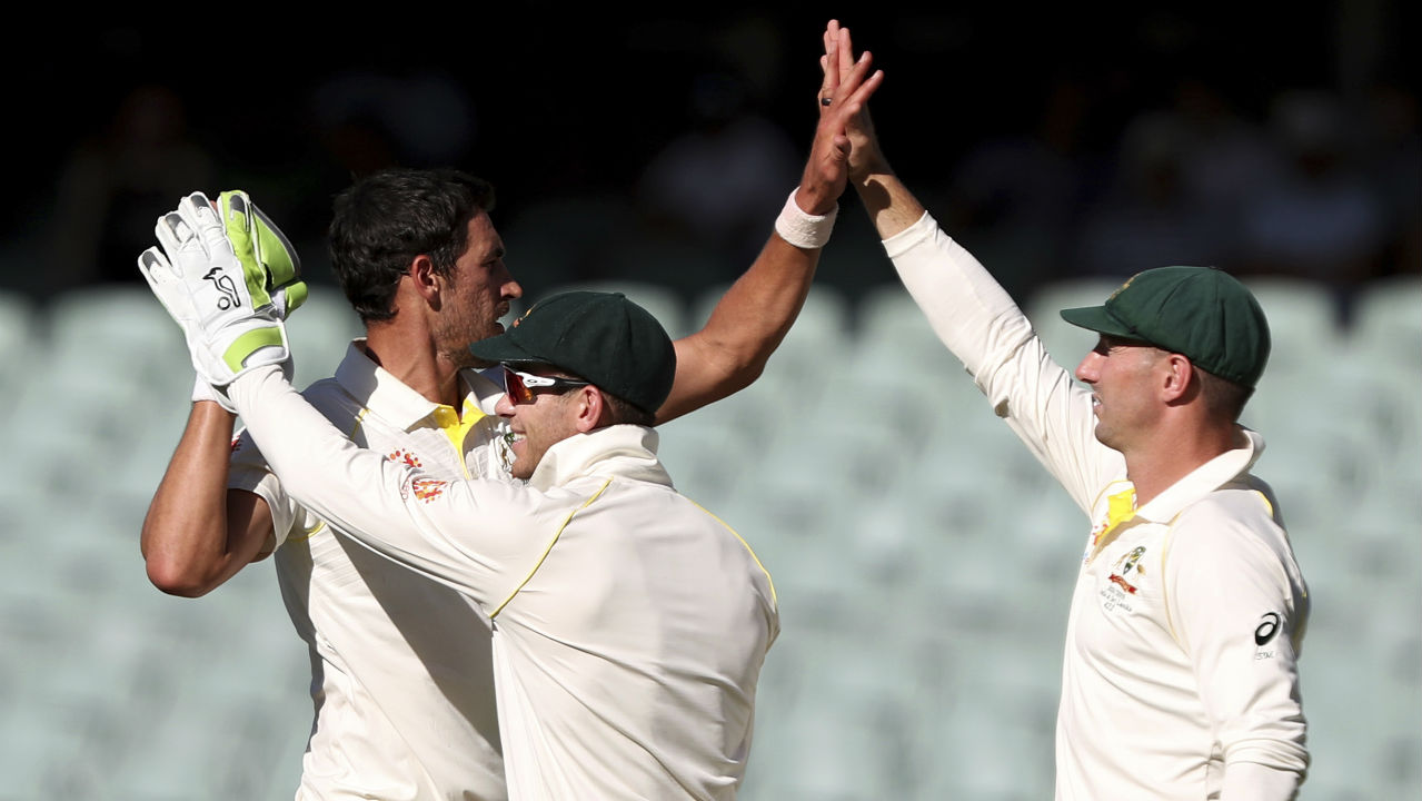 Ishant Sharma was able to score just 4 runs from 20 deliveries before Mitchell Starc castled him with the new ball in the 83rd over. Starc sent down a full delivery which swung in late and came off the pads before crashing into the stumps. (Image: AP)