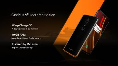 OnePlus 6T McLaren Edition with 10GB RAM, Warp Charge 30 unveiled: A look at price and specs