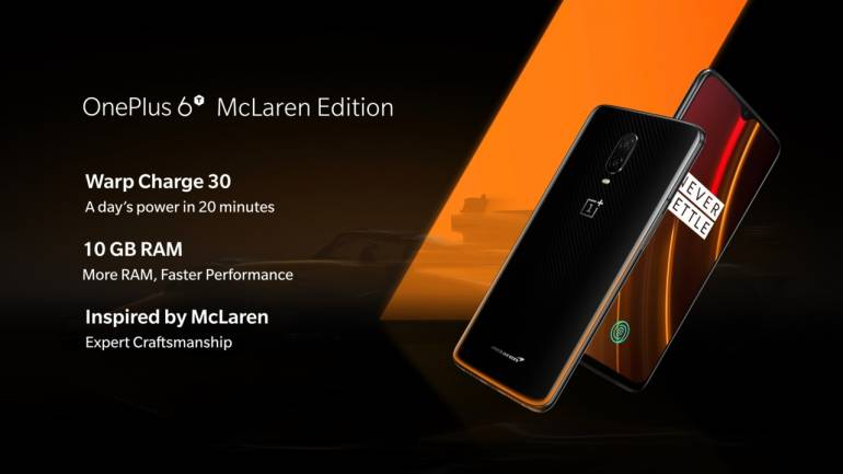 release date: 1e14e 5ab84 OnePlus 6T McLaren Edition with 10GB RAM, Warp Charge 30 unveiled: A look  at price and specs