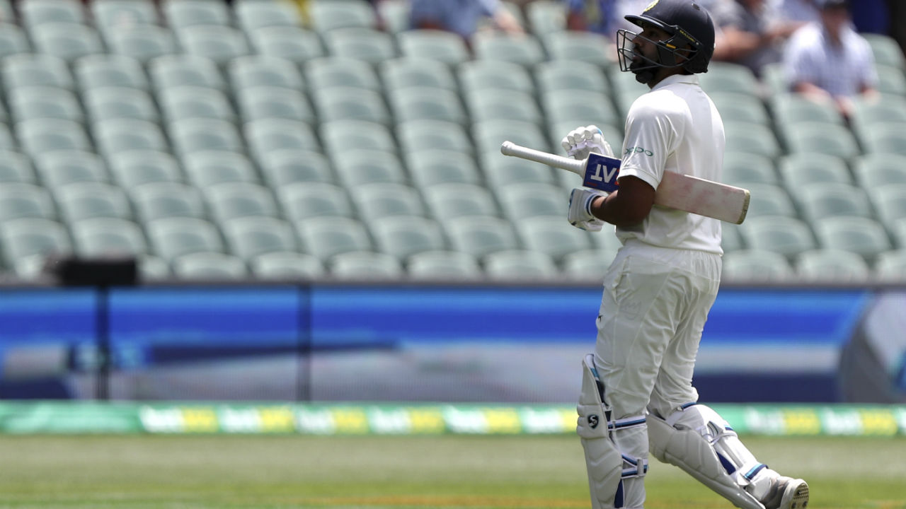 Nathan Lyon proved to be a thorn in the side for the Indians as he broke up two important partnerships. Rohit Sharma added 45 runs for the 5th wicket along with Pujara before throwing away his wicket with a reckless shot in the 38th over off Lyon's bowling. Rishabh Pant then added 41 runs along with Pujara but fell to a brilliant delivery from Lyon as he conceded a faint edge back to the keeper in the 50th over reducing India to 127/6. (Image: AP)