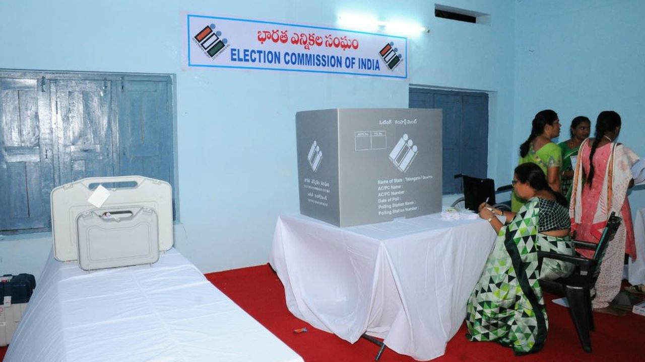 Polling got underway for all 119 assembly constituencies in Telangana at 8 am. (Image: Twitter/@SpokespersonECI)